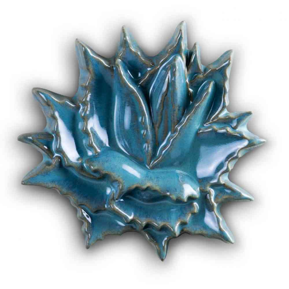 Agave Rosette Tile Small Turquoise – Jim Sudal Ceramic Design