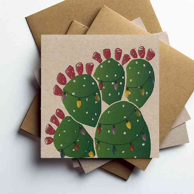Prickly Pear Cactus Holiday Note Cards Jim Sudal Ceramic